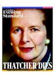 The Evening Standard front page, April 8 2013