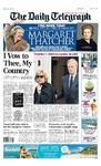 Telegraph Thatcher headline April 13